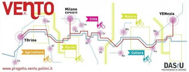 Ciclovia VenTO: l'anello che interessa Cremona, Piacenza e Lodi sia nel primo stralcio attuativo