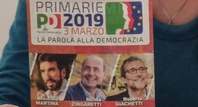 Primarie PD del 3 marzo Chi vincerà fra Giachetti, Martina e Zingaretti ? ( Gian Carlo Storti)