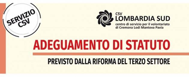 Adeguamento dello statuto associazioni: CSV Lombardia Sud offre un servizio di accompagnamento