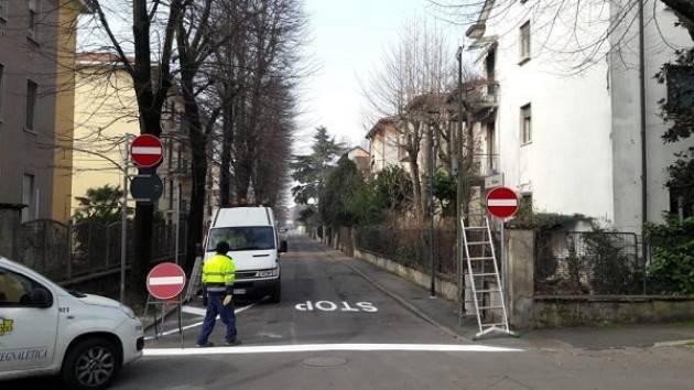 Ciclabile di viale Trento Trieste - Galimberti: «L'85% dei lavori è completato e continuiamo a ritmo serrato per terminare l'opera»