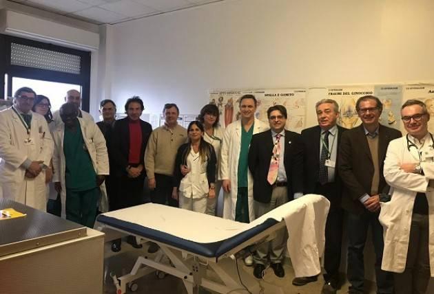 DONAZIONE DEL ROTARY CLUB BRESCELLO TRE DUCATI E DISTRETTO 2072 ALL'ORTOPEDIA DELL'OSPEDALE OGLIO PO