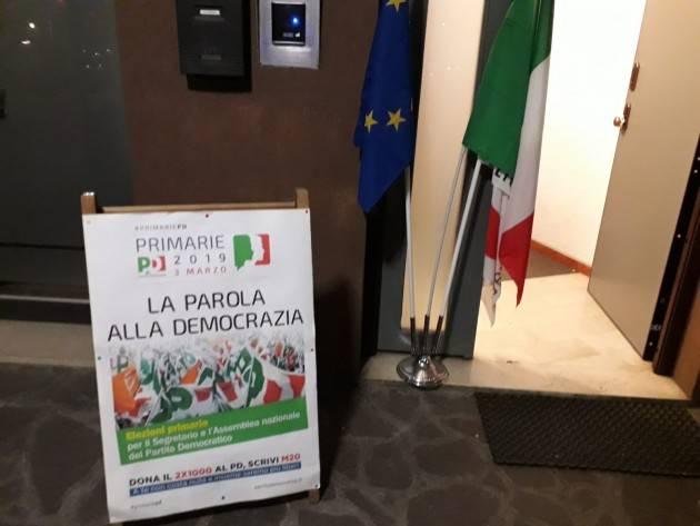 (Video) Primarie PD Cremona Piazza Grande di Zingaretti va alla 'grande' e porta a casa il 63,9 % con 4305 voti