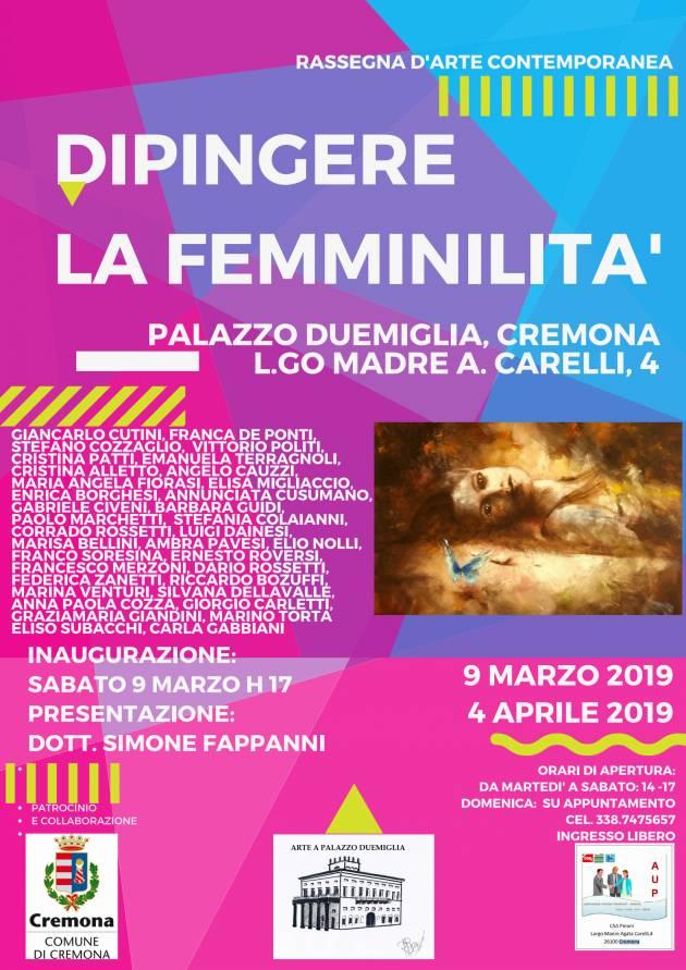 Cremona 8 marzo a palazzo Duemiglia con una mostra d'arte dedicata alla donna