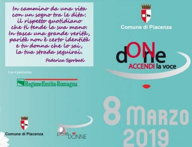 Piacenza Celebra con diverse iniziative l'8 marzo, festa della donna