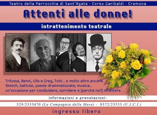UICI Cremona propone lo spettacolo 'Attenti alle donne!' domenica 10 marzo