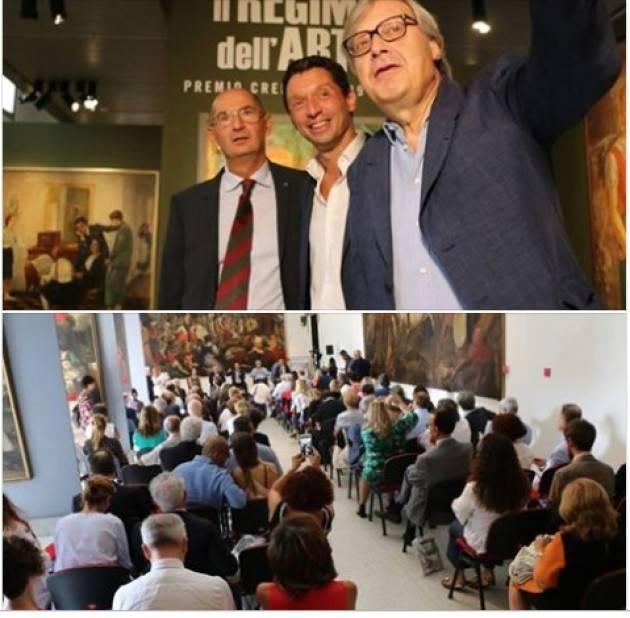 Gianluca Galimberti soddisfatto per i 12.764 visitatori alla mostra Il Regime dell'Arte. Premio Cremona 1939-1941