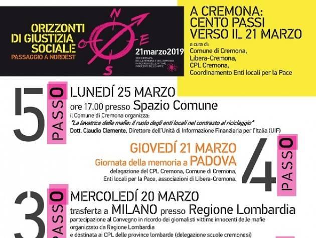 Evento 25 marzo Giornata della memoria e dell'impegno in ricordo delle vittime innocenti delle mafie