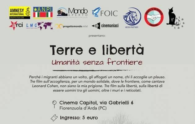 A Fiorenzuola 'Terre e libertà - Umanità senza frontiere'
