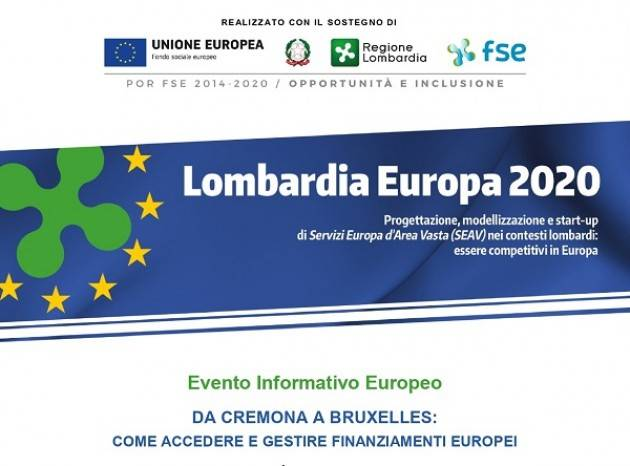Da Cremona a Bruxelles: come accedere e gestire finanziamenti europei