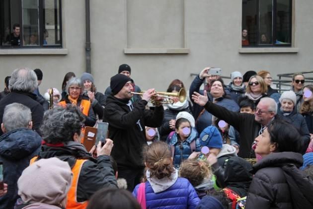 Piacenza Pedibus Jazz alla scuola Mazzini.