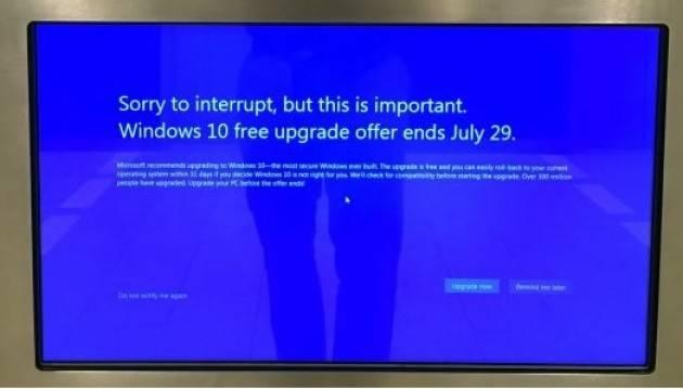Zeus Windows 7, notifiche convinceranno utenti a passare a Windows 10