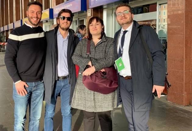 La delegazione cremonese del PD a Roma all'assemblea nazionale che ha confermato Nicola Zingaretti segretario