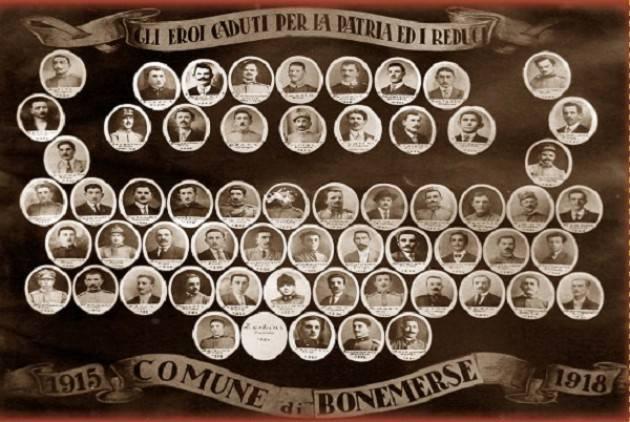 La Grande Guerra a Bonemerse: incontro il 3 aprile a SpazioComune