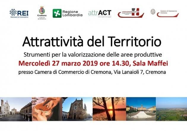 Attrattività del Territorio - Strumenti per la promozione delle aree produttive: incontro il 27 marzo