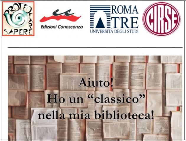 A Roma Seminario Aiuto! Ho un 'classico'  nella mia biblioteca! Il 16 aprile