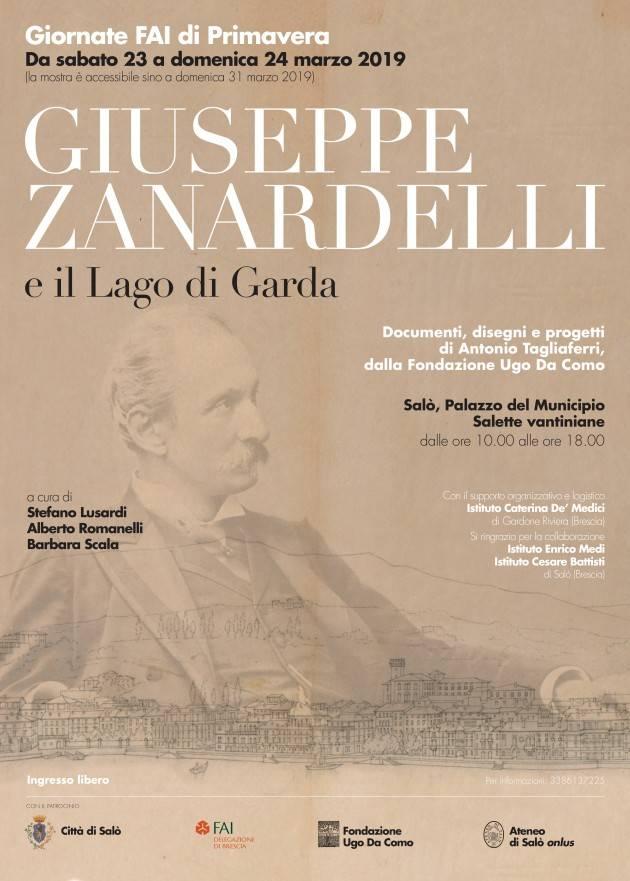 Giornate FAI a Salò il 23 e 24 marzo all'insegna di Giuseppe Zanardelli