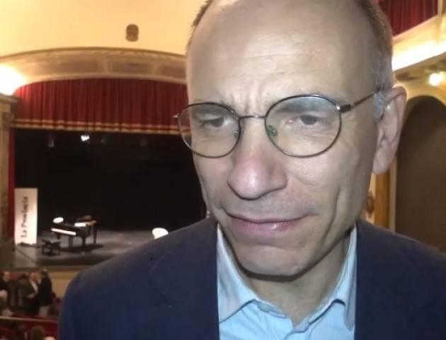 Enrico Letta a Cremona per presentare il suo libro 'Ho imparato'  sostiene Gianluca Galimberti