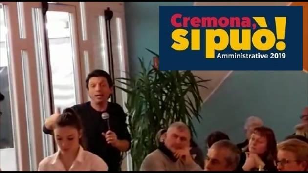 Galimberti a cena con 150 volontari che hanno idee.  A Cremona si può !! (Video G.C.Storti)