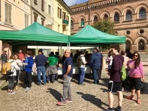Casalmaggiore la campagna di Fabrizio Vappina è partita dal gazebo di p.zza Garibaldi