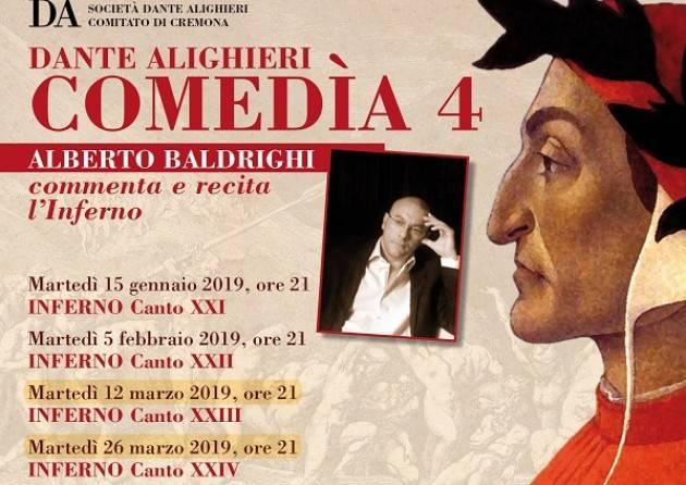 Al Teatro Filo martedì 26 marzo Alberto Baldrighi commenta e recita l'Inferno di Dante