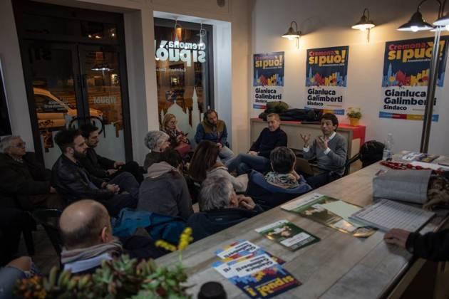Gianluca Galimberti  ha incontrato  I rappresentai della lista  Sinistra per Cremona - Energia Civile