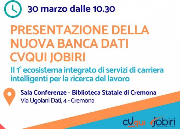 Informagiovani Cremona: presentazione della nuova banca dati lavoro CVqui – Jobiri