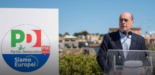 Nicola Zingaretti presenta il nuovo simbolo del Partito Democratico alle elezioni europee