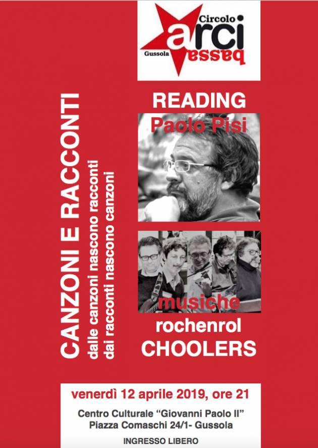 Gussola  Arcibassa organizza venerdì 12  una serata intitolata Canzoni e Racconti
