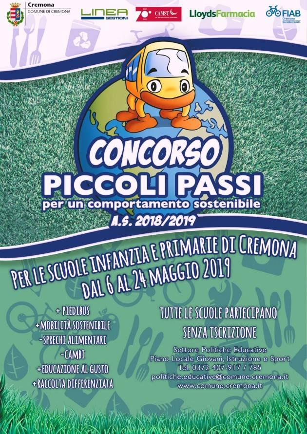 c231d7c059 Cremona Presentata l'edizione2019 concorso scolastico 'Piccoli passi per un  comportamento sostenibile'