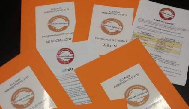 RinnovaSoresina 2019 Diego Vairani Sindaco Le prime schede del programma: ASPM,Associazioni,Commercio