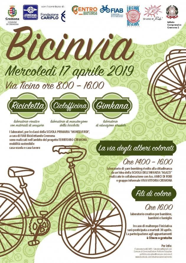 Cremona Bicinvia e Yarn Bombing il 17 aprile in via Ticino