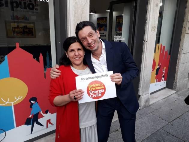 (Video) GalimbertiSindaco2019  Presenta con Rosita Viola la lista Sinistra per Cremona Energia Civile