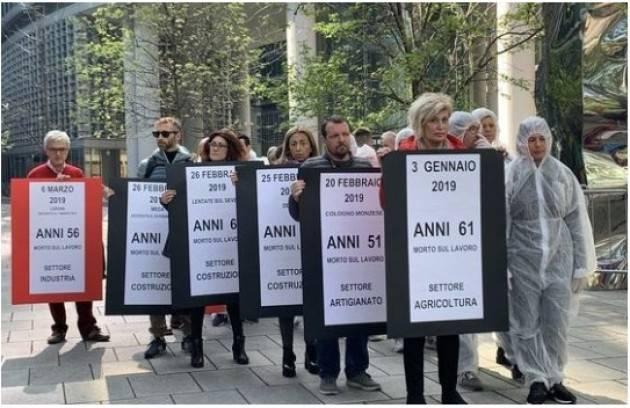 Salute e sicurezza Lombardia in piazza: basta morti sul lavoro