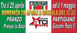 ArciBassa di Gussola organizza per il 28 aprile il 'pranzo partigiano' con la presenza Adelmo Cervi