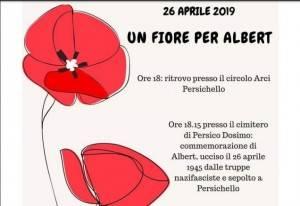 Festa della Liberazione  2019 A Persichello 'Un fiore per Abert'