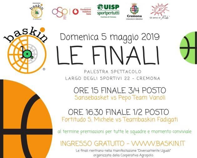 Baskin Tabellini semifinali Domenica 5 maggio a Cremona