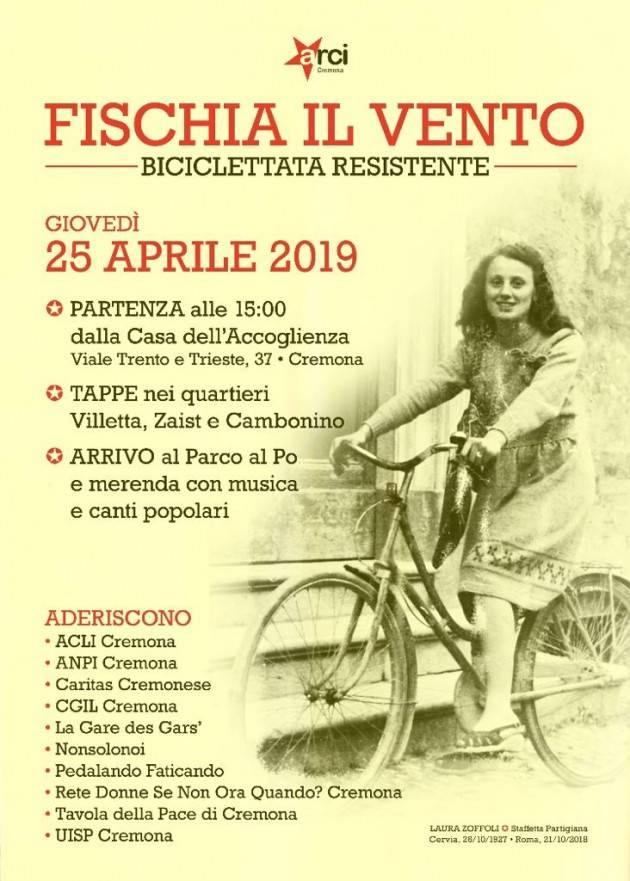 A Cremona Biciclettata Resistente il 25 aprile 74° anniversario Liberazione