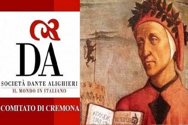 Società Dante Alighieri di Cremona: gli incontri di Maggio e Giugno 2019