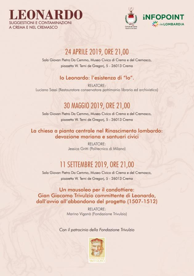 Leonardo: suggestioni e contaminazioni a Crema e nel Cremasco.
