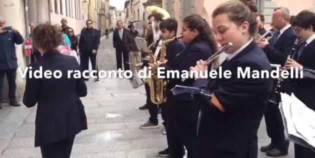 Festa 74° Liberazione Plumbeo nel cielo ma vitale nello spirito il 25 aprile cremasco.(Video E.Mandelli)
