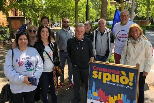 Cremona si può! Week-end di presidi elettorali in centro e nei quartieri