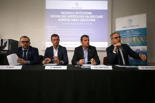 Il Ministro Centinaio incontra i vertici dell'Istituto Spallanzani di Rivolta d'Adda
