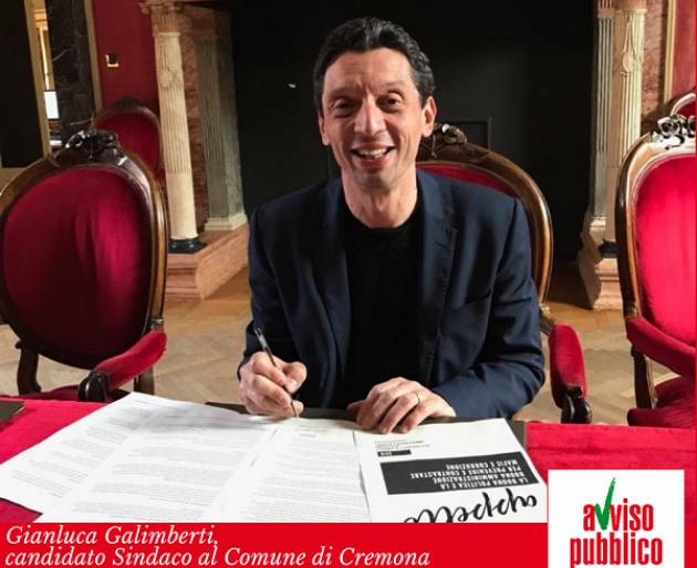 Il Sindaco Galimberti firma l'appello per contrastare mafie e corruzione