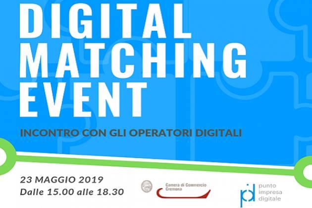 Digital Matching Event a Cremona il 23 maggio