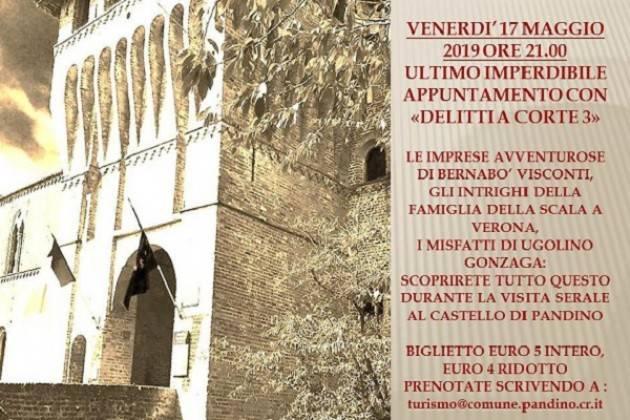 Venerdì 17 maggio visita serale al castello di Pandino