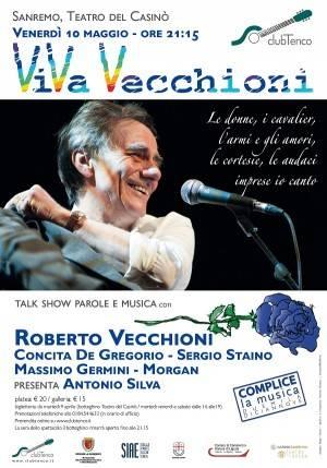 Sanremo 'Viva Vecchioni' venerdì 10 maggio Organizza Club Tenco