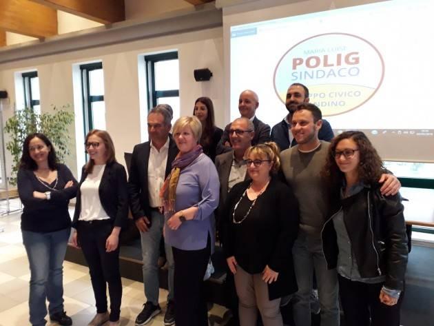 Maria Luise Polig candidata sindaco presenta  i candidati lista Gruppo Civico Pandino