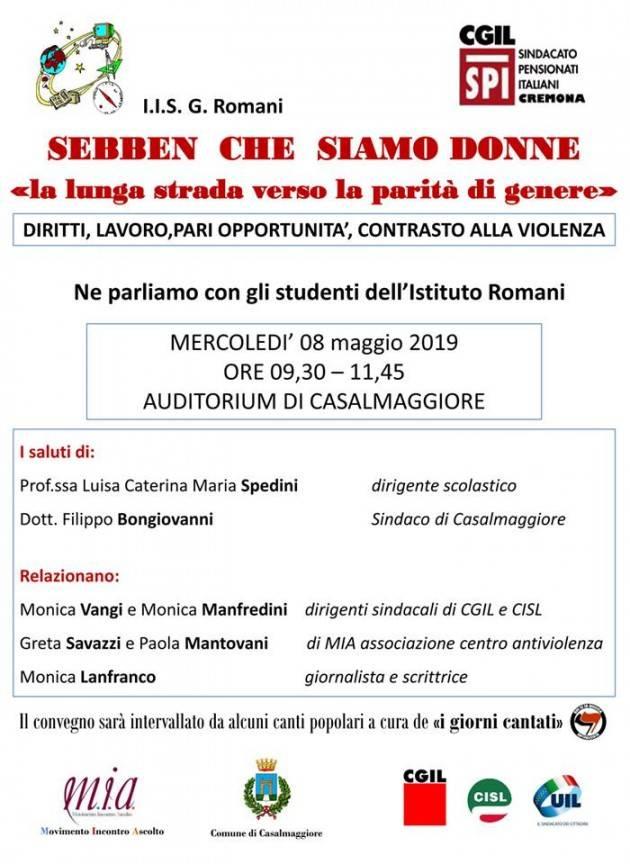Casalmaggiore Convegno 8 Maggio  'SEBBEN CHE SIAMO DONNE'