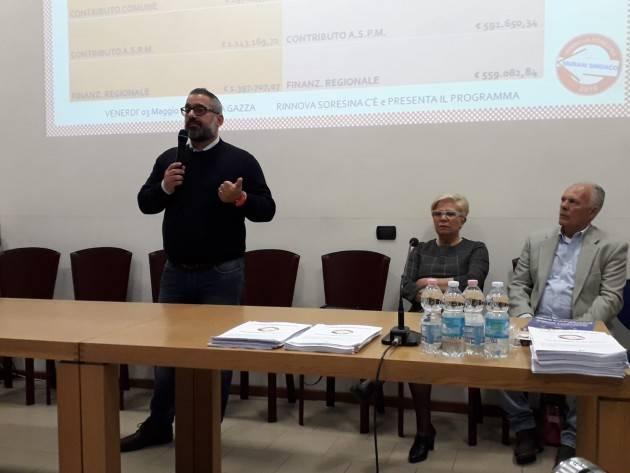 Sicurezza ed immigrazione Diego Vairani  illustra  programma di RinnovaSoresina2019 (Video G.C.Storti)