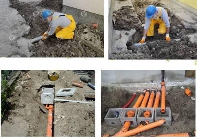 Cremona, Padania Acque : Lavori alla rete idrica in via Ca' del Ferro e cantiere fognario in vicolo del Giglio